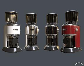 PBR COFFEE GRINDER DeLonghi KG521M 4 COLORS PBR Texture 3D