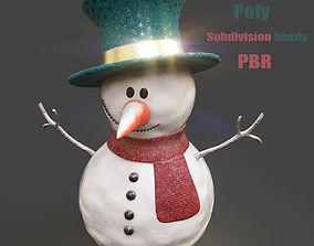 3D asset SnowMan - PBR Game-Ready