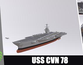 3D model USS CVN 78 GERALD FORD