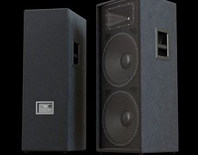 Black Dual Loudspeaker 3D