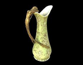 Vase with mermaid 3D print model