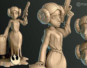 3D printable model Princess Leia and R2D2