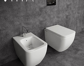 3D model Toilet and Bidet Vitra Shift