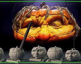 Halloween Pumpkin Covid-19 COMPLETE KIT - 3D print model 1