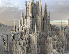 Bloodborne inspired Cathedral City huge 3D model