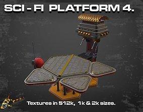 3D asset SCI-FI PLATFORM 4