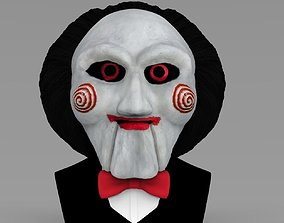Billy the Puppet from Saw bust ready for full color 3D 1