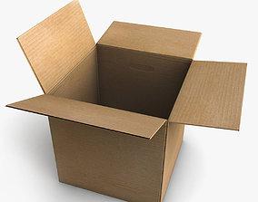 Rigged Cardboard Box 3D model