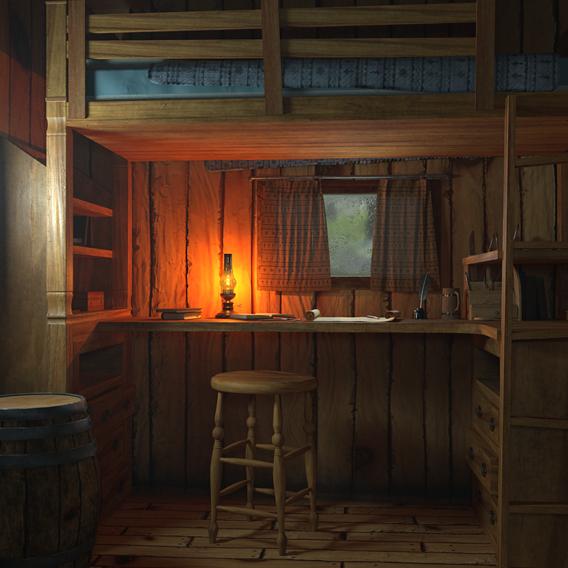Dolomite Hut Interior