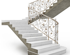 3D asset CIassic Staircase