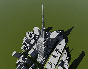 3D model Empire State Building NYC