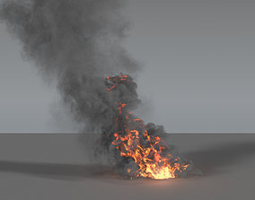 3D Fire Smoke Column 03 - VDB