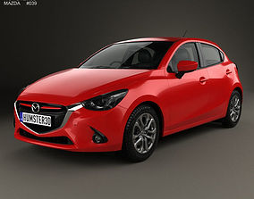 3D model Mazda Demio 5-door hatchback 2014