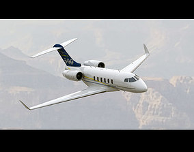 Bombardier Challenger 300 3D animated