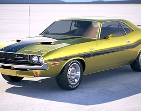 3D model Dodge Challenger 1970 with interior