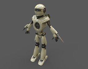 robot enemy 3D model game-ready