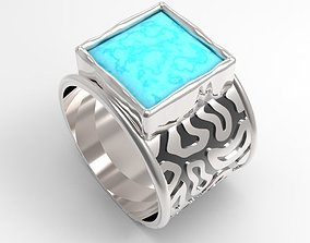 turquoise ring 3D printable model
