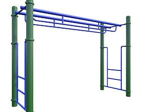 3D model Monkey Bars-010 Double Parallel Bars