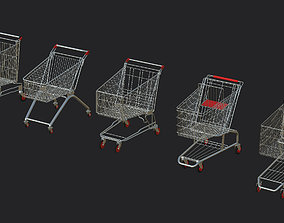 5 shopping cart Dirty Pack 3D model