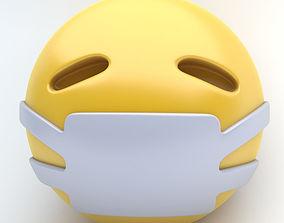 3D model EMOJI medical mask