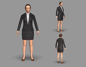 3D asset Lady boss