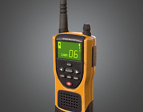 Walkie Talkie Radio Handheld - CMP - PBR Game 3D model