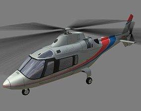 3D asset Agusta Helicopter V1