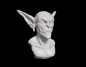 Goblin bust 3D printable model