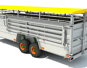 3D Cattle Animal Transporter Trailer