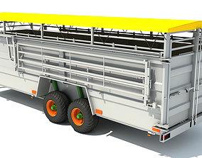 3D Cattle Animal Transporter Trailer