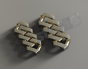 Cuban chainlink 3d model with and without