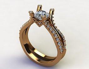 Engagement Rings Solitaire Ring diamond 3D print model