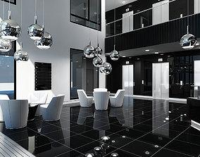 3D model Office Interior Reception