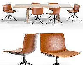 Arper CATIFA 53 TRESTLE SWIVEL and CROSS Table 3D model