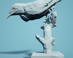 printer zoo Low Poly Bird Model