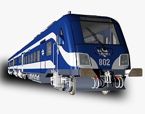 3D model Siemens Viaggio Light Train Carts and Locomotive