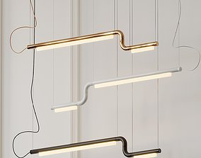 Pipeline CM2 LED Linear Suspension Light By Caine 3D model