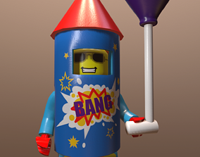 Lego man low poly 3d model game-ready