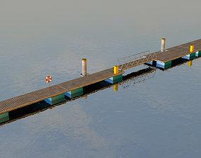 3D model Boat pontoons