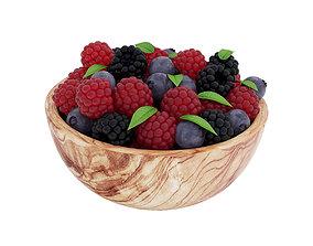 3D model Bowl of berries
