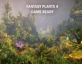 Fantasy plants 4 3D asset