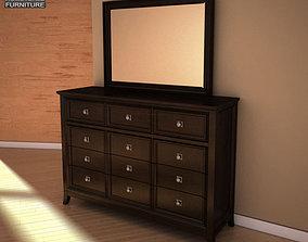 Ashley Martini Suite Dresser Mirror 3D model
