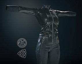 3D model Female Biker Outfit