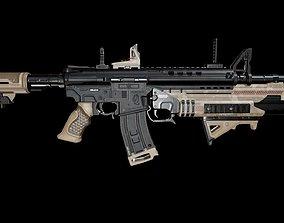 Assault Rifle 3D model rigged