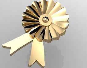 badge award rosette 3D printable model