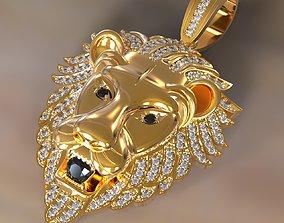 Lion pendant printable 3D print model