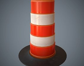 Traffic Cone PBR Game Ready 3D model