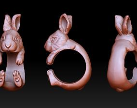 3D printable model Rabbit hug ring