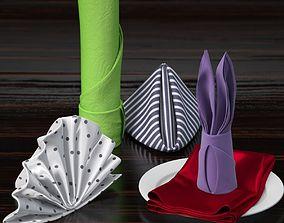 serviette table-napkin 3D
