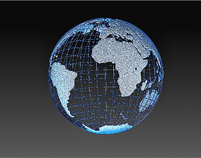 Earth transparent model
